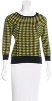 Erdem Houndstooth Three-Quarter Sleeve Sweater