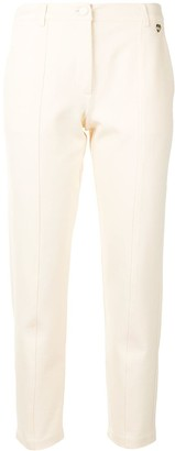 Twin-Set High-Waisted Pleat Detail Cropped Trousers