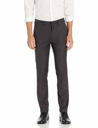 Kenneth Cole Reaction Men's Stretch Micro Check Houndstooth Skinny Dress Pant