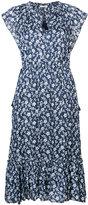 Ulla Johnson flutter sleeve floral dress - women - Silk/Cotton/Viscose - 8