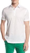 Kiton Classic Cotton Polo Shirt, White