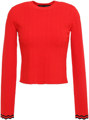 Proenza Schouler Cropped Ribbed-knit Top