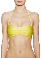 Vix Paula Hermanny Solid Pleats Bandeau Bikini Top