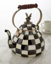 Mackenzie Childs MacKenzie-Childs Courtly Check 3-Quart Tea Kettle with Butterfly