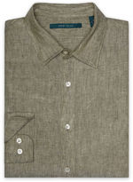 Perry Ellis Big and Tall Linen Chambray Shirt