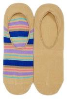 Lorenzo Uomo Men's Multi Stripe Assorted 2-Pack No-Show Socks