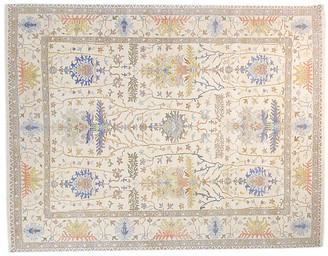 F.J. Kashanian 8'x10' Oushak Daira Rug - Ivory/Ivory