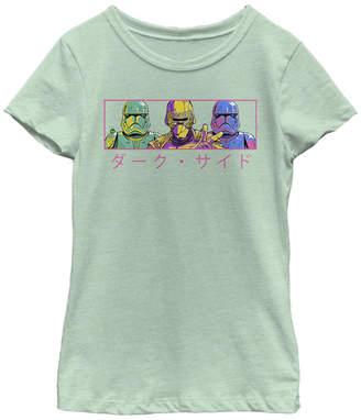 Star Wars Big Girls First Order Pop Art Short Sleeve T-Shirt