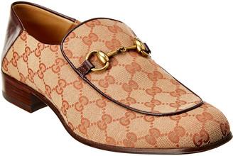 Gucci Gg Supreme Canvas & Leather Loafer