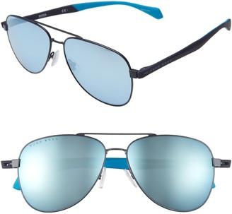 HUGO BOSS 1077/S 60mm Aviator Sunglasses