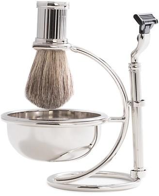 Bey-Berk 3-Piece Mach3 Razor, Badger Brush, Soap Dish Stand Set