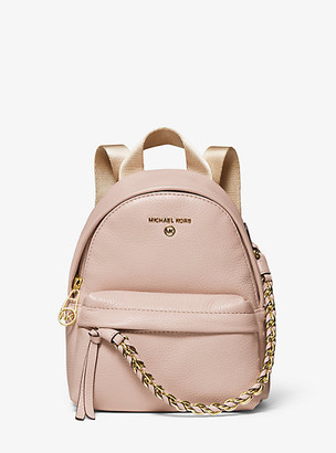 MICHAEL Michael Kors MK Slater Extra-Small Pebbled Leather Convertible Backpack - Black - Michael Kors