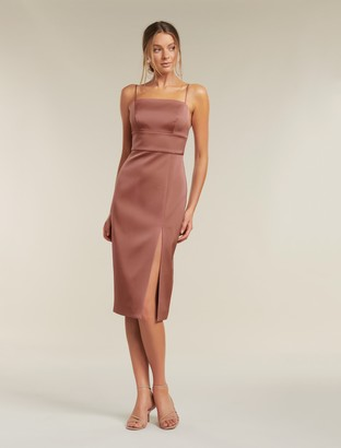 Ever New Misty Bonded Satin Midi Dress