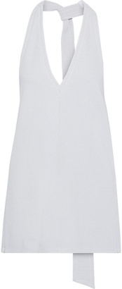 Tibi Frisse Stretch-knit Halterneck Top