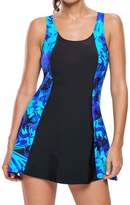Eiffel Store Eiffel Women's Print A-line Swimdress Plus Size Swimwear Skirt One Piece Cover Up