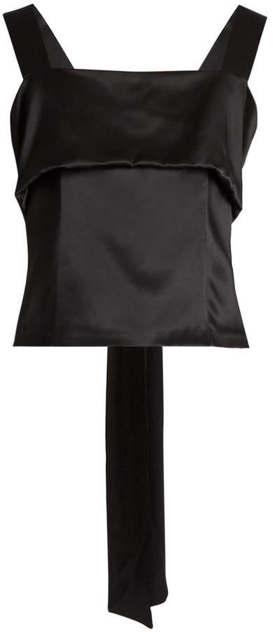 ADAM by Adam Lippes Sleeveless bow silk-charmeuse top