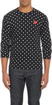 Comme des Garcons Men's Polka Dot Long-Sleeve T-shirt-BLACK