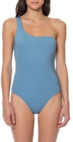 Red Carter Women's One-Shoulder One-Piece Swimsuit