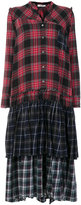 Circus Hotel checked patchwork dress