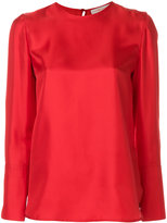 Tory Burch buttoned shoulder blouse