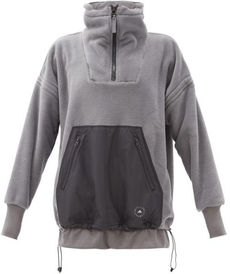 adidas by Stella McCartney Technical-pocket Fleece Hooded Sweatshirt - Grey