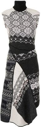 Marine Serre Regenerated-Knit Melange Asymmetric Dress