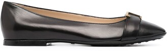 Tod's Square-Toe Ballet Flats
