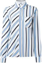 MSGM striped shirt - women - Silk - 42