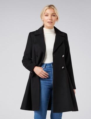Forever New Paige Petite Skirt Coat - Black - 4