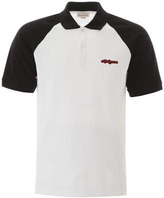 Alexander McQueen Embroidered Logo Contrast Collar Polo Shirt