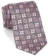 Ermenegildo Zegna Medallion Woven Silk Tie