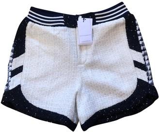 Faith Connexion White Cotton Shorts for Women