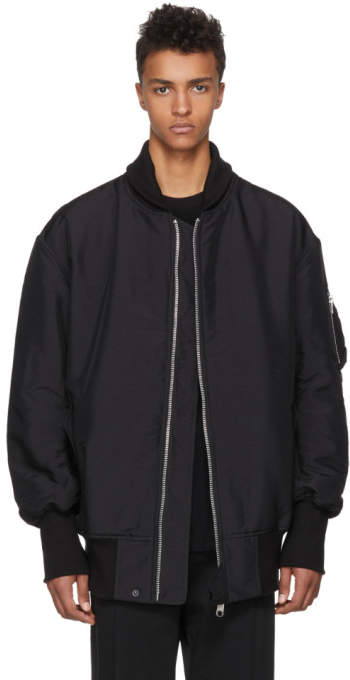 Y-3 Black James Harden Oversized Bomber Jacket