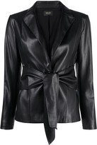 Thumbnail for your product : Liu Jo Faux Leather Tie-Waist Blazer