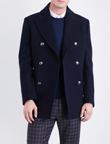 Brioni Double-breasted wool peacoat