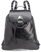 MM6 MAISON MARGIELA Women's Backpack with Popper Detail Black