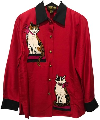 Bob Mackie Red Silk Top for Women Vintage