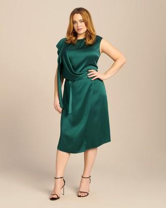Sally LaPointe Double Face Satin Scarf Dress