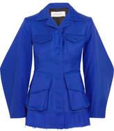 Marques Almeida Marques' Almeida - Frayed Twill Jacket - Cobalt blue