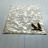 Graham and Green Gold Chevron Large Cowhide Rug