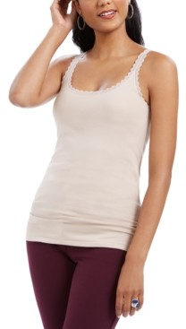 Style&Co. Style & Co Lace-Trimmed Camisole Top, Created for Macy's