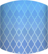 Asstd National Brand Blue Gradient Pattern Drum Lamp Shade