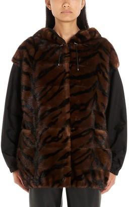 Simonetta Ravizza Tiger Print Reversible Bomber Jacket