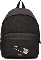 Versus Black Large Safety Pin Backpack