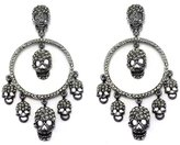 Butler & Wilson Butler and Wilson Multi Skull and Hoop Black Diamond Crystal Earrings