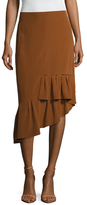 Tibi Heavy Silk Gypsy Asymmetrical Skirt