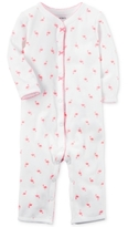 Carter's 1-Pc. Cotton Flamingo-Print Coverall, Baby Girls (0-24 months)