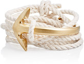 Miansai Men's Half Anchor Cuff Wrap Bracelet-NUDE