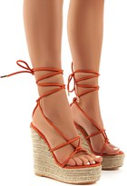 Public Desire Luciana Lace Up Espadrille Wedge Heeled Sandals