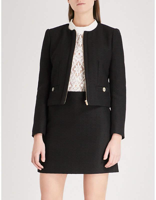 Claudie Pierlot Cropped tweed jacket